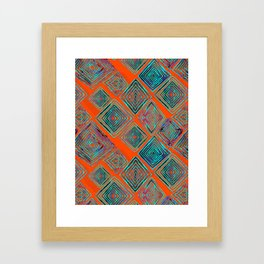 Ratty Diamonds  Framed Art Print