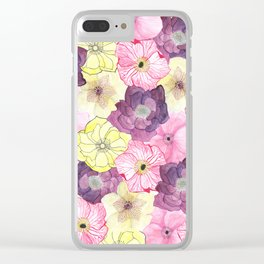The Hellebores Clear iPhone Case