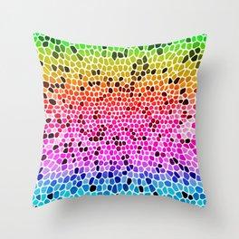 THINK RAINBOW Throw Pillow