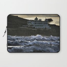 Stormy Burgh Island Hotel Laptop Sleeve