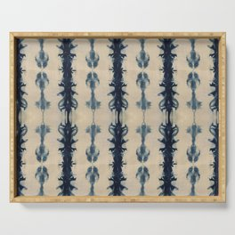 Shibori Flowers Serving Tray