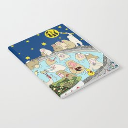 Snow Monkeys in Hot Spa Notebook