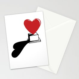 Pedestal love Stationery Cards