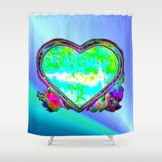 Melting Heart Shower Curtain