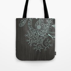 Tangle on dark wood Tote Bag