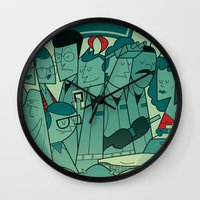ghostbusters Wall Clocks featuring Ghostbusters by Ale Giorgini