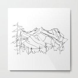 Squamish Summits :: Single Line Metal Print