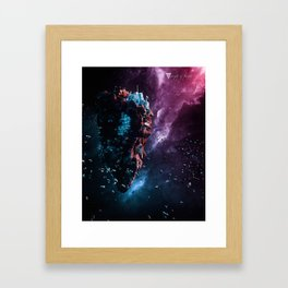 Weight Of Thought - Asteroid V Framed Art Print