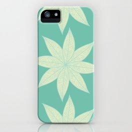Skeleton Leaf Flower Pattern iPhone Case