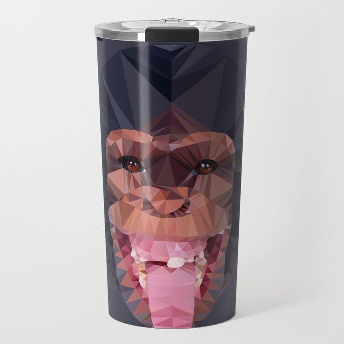 Chimpanzee low poly Travel Mug