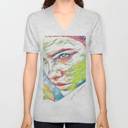 Barbara Palvin (Creative Illustration Art) Unisex V-Neck
