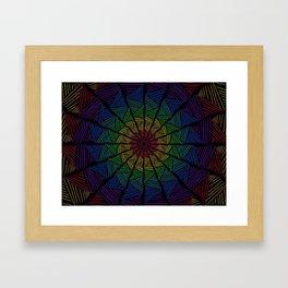 Togetherness- Interwoven Rainbow Texture Framed Art Print