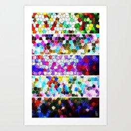 Geometric Worlds (Five Panels Series) Art Print
