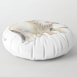 Mom and Baby Elephant 2 Floor Pillow