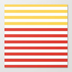 POPPY STRIPES Canvas Print