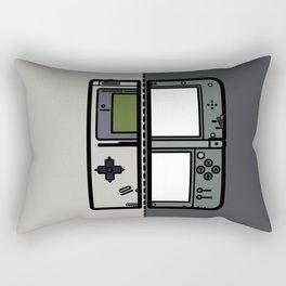 Old & New Nintendo Handheld Consoles Rectangular Pillow