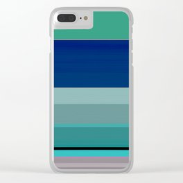 Threshold of Seas Linear Abstract Clear iPhone Case