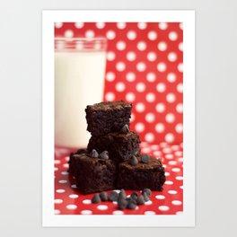 Brownies and Milk Art Print