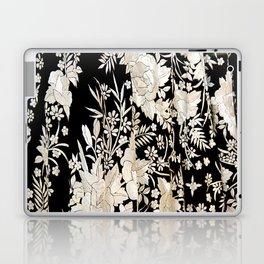 Black and White Flowers by Lika Ramati Laptop & iPad Skin