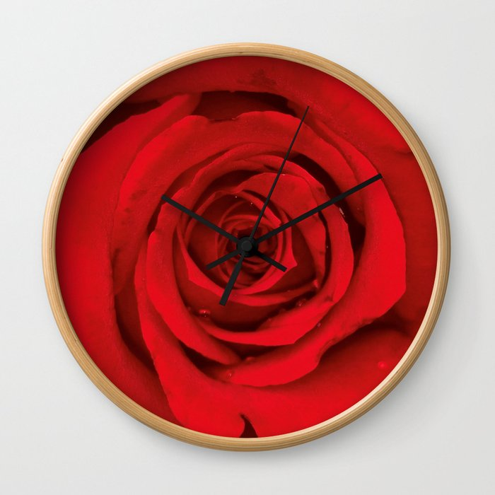 Lovely Red Rose Wall Clock