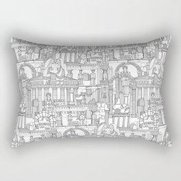 Ancient Greece black white Rectangular Pillow