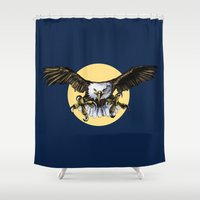 eagle Shower Curtains featuring Eagle by Anna Shell