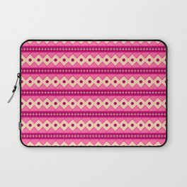 Pink & Cream Rows Laptop Sleeve
