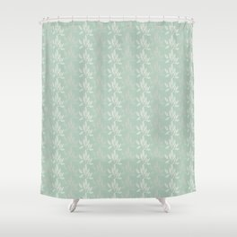 Floral Pattern in Greyish Green Shower Curtain