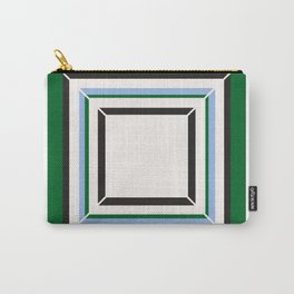 Green Blue And White Tile Carry-All Pouch
