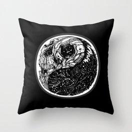 yin yang (evil and evil) - 2014 Throw Pillow