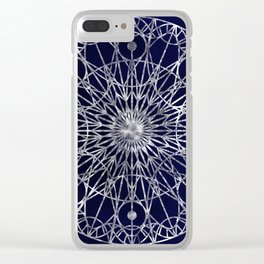 Rosette Window - Midnight Blue Clear iPhone Case