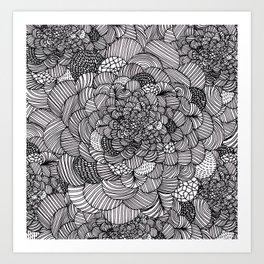 Ink flowers Art Print