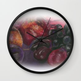 Pastel - Fruit Still Life Wall Clock