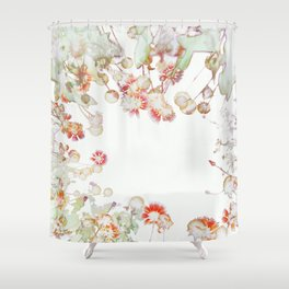 Ethereal Pastel Summer Garden Shower Curtain