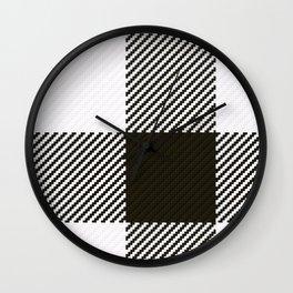 Dogtooth Quarter Wall Clock