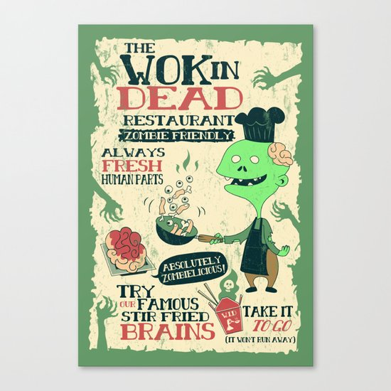 The Wok In Dead Canvas Print