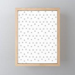 gaming pattern - gamer design - playstation controller symbols Framed Mini Art Print