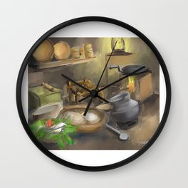 Punjabi village kitchen Wall Clock