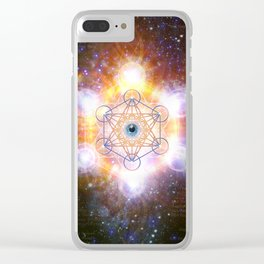 """""""Aad Guray Nameh""""- Merkaba-  Protective energy of the Universe Clear iPhone Case"""