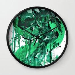 """""""Sea Monster"""". Phthalo Green Series No 4. Wall Clock"""
