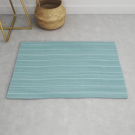 Island Paradise Blue Weathered Whitewash Wooden Beach House Rug