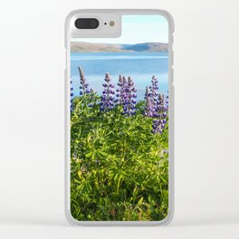 Lupins by the Fjord 1 Clear iPhone Case