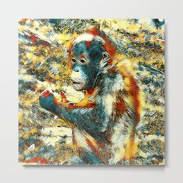 AnimalArt_OrangUtan_20170906_by_JAMColors Metal Print