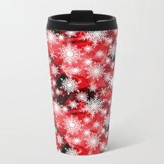 Snowflakes .  4 Metal Travel Mug
