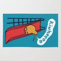 kiwi Area & Throw Rugs featuring Kiwi by Picomodi