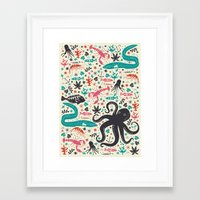 tea Framed Art Prints featuring Sea Patrol by Anna Deegan