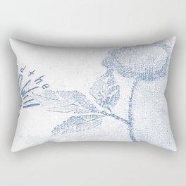 Sun will shine ... Blue Rectangular Pillow