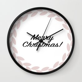 Merry Christmas! - Holiday Illustration Wall Clock