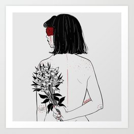 When her petals fall, they hit like bullets. Art Print