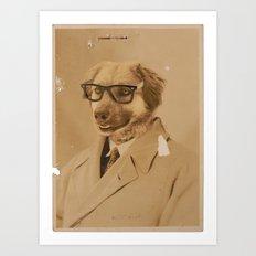Winston The Dog Art Print